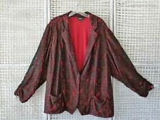 TORRID Stretch Black Lace on Red Sexy Goth Steam Punk Dress Blazer Jacket~4X~26