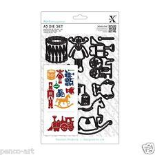 Docrafts xcut 9 pièce A5 toy box die set. cheval à bascule train tambour poupée soldat