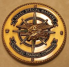 Naval Special Warfare SEAL Advanced Training Command Navy Challenge Coin