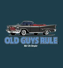 "OLD GUYS RULE "" MID-LIFE CHRYSLER "" V-8 HOT ROD MUSCLE CLASSIC VINTAGE S/S 3X"