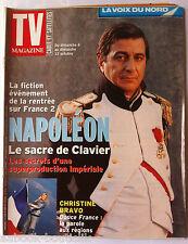 TV Magazine du 6-10-2002; Interview C. Clavier en Napoléon/ C. Bravo/ Jennifer