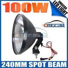 1PCS OMGCAR 9' 240MM HID DRIVING OFFROAD LIGHTS 4 HUNTING SPOT WORKING 100W 12V