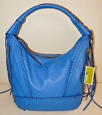 New  orYANY Soft Nappa Leather Hobo - Michelle in Sapphire Blue
