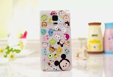 Cute Cartoon Crystal Clear TPU Soft Case Cover for Samsung Note 3 4 S3 S4 S5 S6