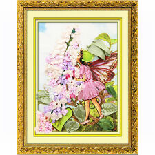 3D Angel fairy flower Ribbon embroidery kit people canvas paint handcraft DIY