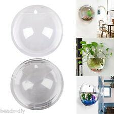 Wall-mounted Hanging Acrylic Fish Tank Bubble Aquarium Bowl Plant Pot Home Decor