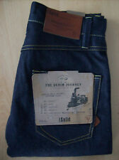 Jeans Mens Regular Straight Designer Jeans Solid Dark Blue Roy W 29in New + Tags