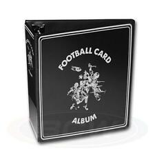 "1 BCW Black Football Card Storage 3"" D-Ring  Album Binder & 100 Pages"
