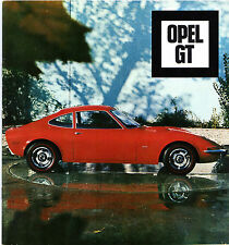Opel GT c1968 German Market Design & Development Brochure Style Auto