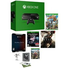 Microsoft Certified Xbox One 500GB Gaming Console - 5 GAME BUNDLE w/ Halo 5 LE