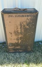 ANTIQUE Vintage STEAMER  TRUNK UPRIGHT WARDROBE Travel CHEST STEAMPUNK Suitcase