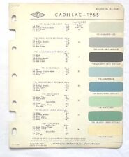 1955 CADILLAC ACME  COLOR PAINT CHIP CHART ALL MODELS