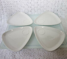 4 White Super Vitrified Snack Attack Plates by Churchill China ENGLAND