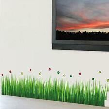 New DIY Green Grass Wall Edge Stickers Home Bedroom Vinyl Decal Removable