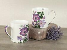 Set of 2 ROYAL BOTANIC GARDENS, KEW Garden Delights Clematis FINE CHINA MUGS