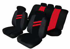 FORD FIESTA Universal Car Seat Covers RED STRIPE