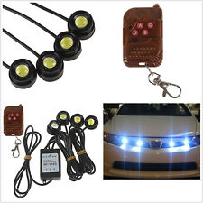 4Pcs White Hawkeye Flashing Emergency Super Bright Strobe Grille Light Truck SUV