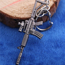 Mini Cross Fire M4A1 Assault Rifles Keychain Military Alloy Weapon Model KeyRing