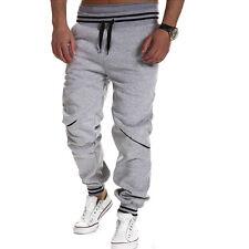 Mens Boy Casual Gym Tracksuit Bottoms Plain Jogging Trousers Joggers Sweat Pants