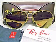RAY-BAN *MINT VINTAGE B&L AVIATOR *Diamond Hard W1508 TORTUGA GENERAL SUNGLASSES