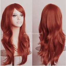 US Cheap Sale Rainbow Wig Curly Wave Straight Hair Costume Full Wigs 18 Colors