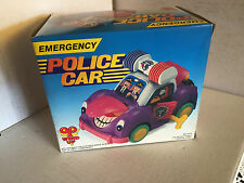 VINTAGE TIN TOY POLICE CAR WIND UP NUOVA!!!!!