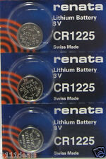 3 Renata CR1225 Replacement Batteries for Cayeye Sigma Knog Planet Bike & Others