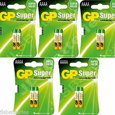 10x AAAA GP SUPER Batteries MN2500 1.5V E96 LR8D425 Alkaline battery 5 X 2 packs