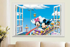 LOVE Mickey Minnie Mouse Kids Decor Art Decal Mural Bedroom TV Wall Stickers