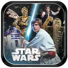 STAR WARS Classic SMALL PAPER PLATES (8) ~ Birthday Party Supplies Cake Dessert