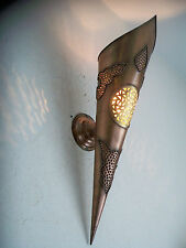 50 cm! wand-fackel Wand Marrokanisch schmiedeeisen patina kupfer lampe laterne 3