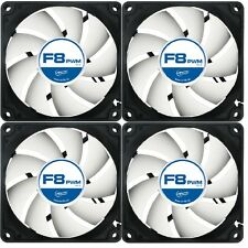 4 Pack Of Arctic F8 PWM 80mm 8cm PC Gaming Case Fan Silent,  6Yr Wty