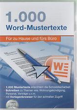 1000 Word-Mustertexte - Für zu Hause und fürs Büro - Neu und originalverpackt