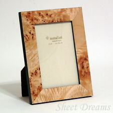 Natalini Hand Made in Italy Burled Wood Marquetry 4x6 Photo Frame New