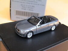 Herpa BMW 3-er E-93 2007 Cabrio spacegraumet. 80410413380 Klappbox BMW-OV