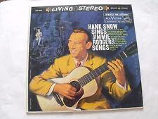 HANK SNOW   SINGS JIMMIE RODGERS SONGS  (1959 STEREO)
