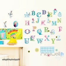 26 Frozen Elsa Anna Alphabet Snow Wall decals sticker decor kids nursery