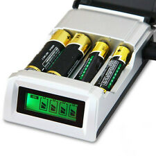 Hot Sale C905W 4 Slots LCD Charger for AA / AAA NiCd NiMh Batteries EU Plug LM