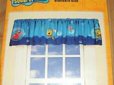 "NEW NICKELODEON SPONGEBOB SQUAREPANTS SCHOOL OF FISH WINDOW VALANCE 84"" X 15"""