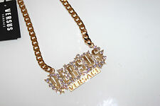 Versace Versus crystal chain unisex new