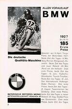1927 BMW Allen Voraus Rennen Motorrad ca. 14x23 cm original Printwerbung