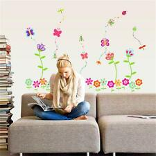 Removable Spring Flower Butterfly Diy Window Living room Wall decals Sticker
