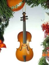 "CELLO MUSICAL INSTRUMENT CHRISTMAS ORNAMENT 5.5"" WOODEN REPLICA GIFT BOXED"
