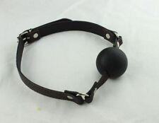 Silicone Rubber Black Ball Gag - fetish roleplay slave bondage