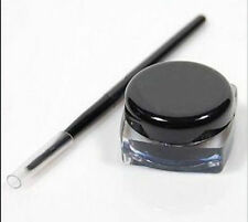 Lady's Sexy Black Eyeliner Gel Cream Liquid Eye Liner Shadow + Brush Makeup Set
