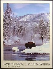 James Thomson Poster Of buffalo in winter stream SUBMIT OFFER!