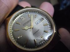 super vintage gents citizen gold plated automatic watch