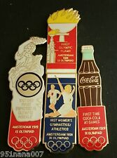 AMSTERDAM 1928 4 PIN SET / PART OF 1996 COCA-COLA OLYMPIC 100 LAPEL PIN COLLECT