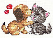 Cross Stitch Kit Love (cat and dog)