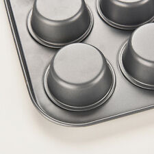 New 12Cup Metal Nonstick Cupcake Baking Mold Pan Tray Tin Cake Pudding Muffin wh